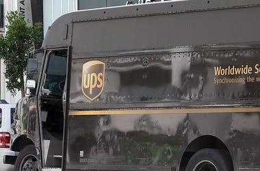 UPS Driver Truck