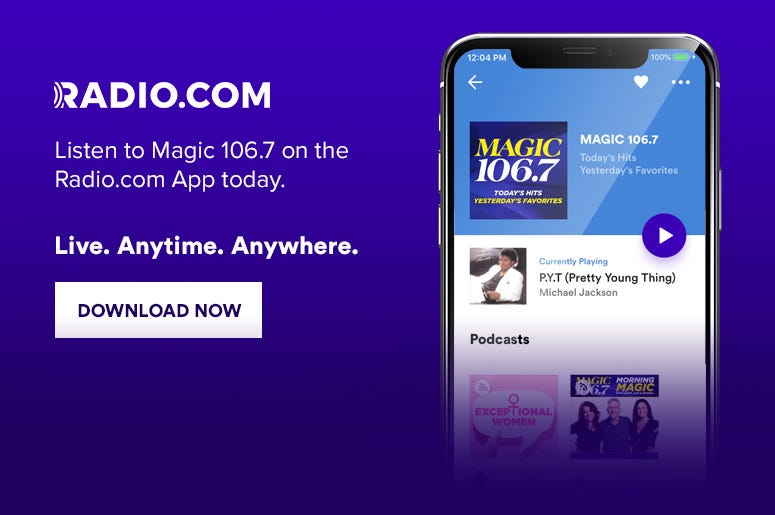 MAGIC 106.7 Music Lead RADIO.COM App
