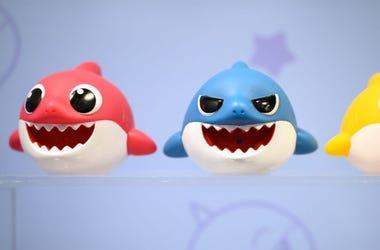 three baby sharks
