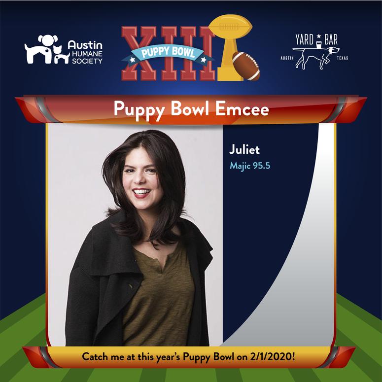 Juliet, Puppy Bowl Emcee