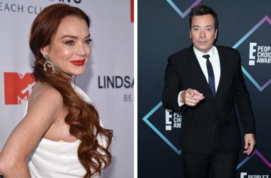 Lindsay Lohan and Jimmy Fallon