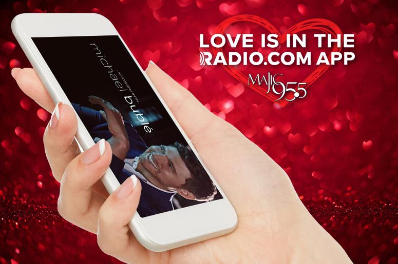 Love is in the RADIO.COM App - Majic 95.5