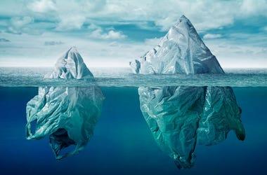 Ocean Iceburg Plastics