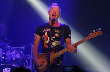 Sting and Shaggy perform during their 44/876 Tour