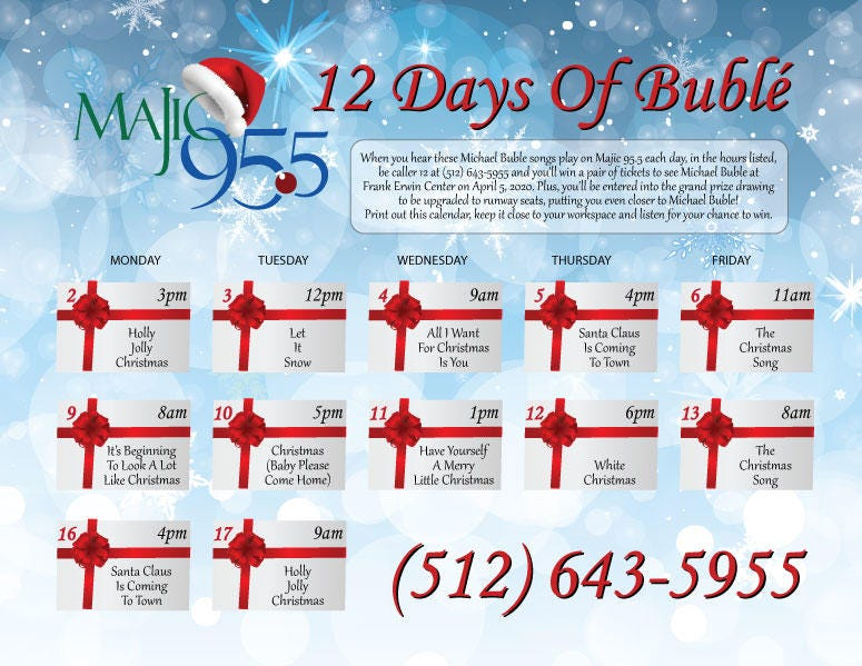 12 Days of Michael Bublé - Majic 95.5