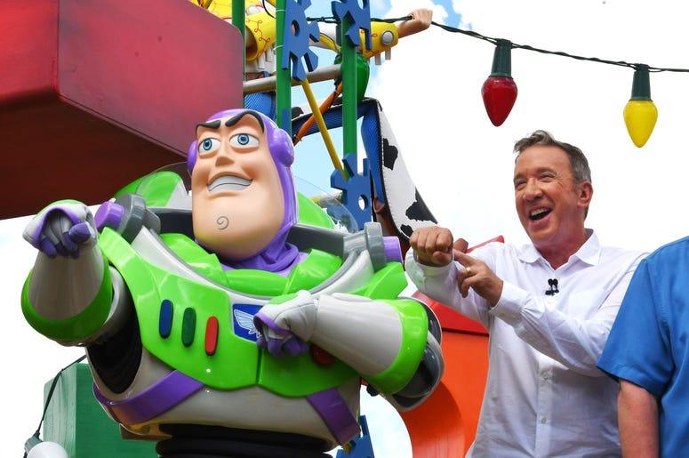 Tim Allen and Buzz Lightyear