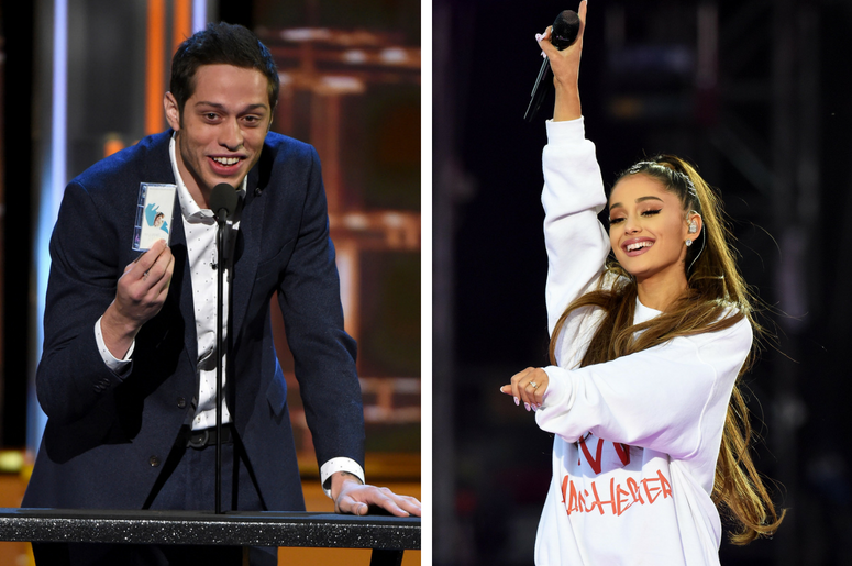 Pete Davidson and Ariana Grande