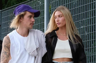 Justin Bieber and Hailey Baldwin attend the John Elliott front row during New York Fashion Week: The Shows on September 6, 2018 in New York City.