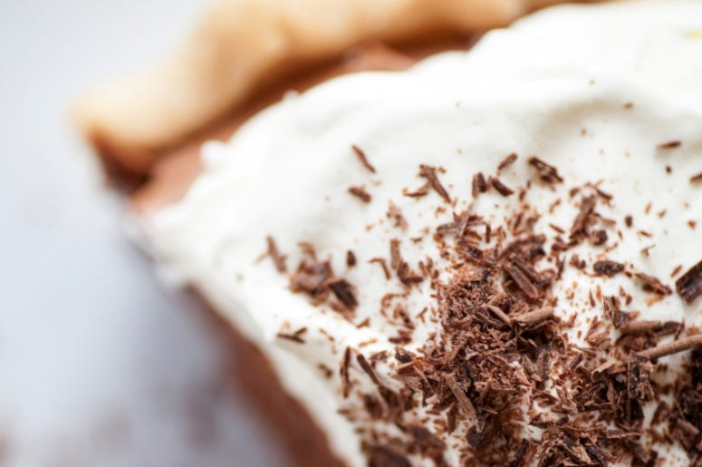 No Bake Chocolate Pie  Top Getty Images