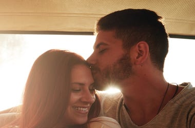 Couple Forehead Kiss