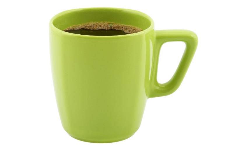Green mug Homiel Getty Image