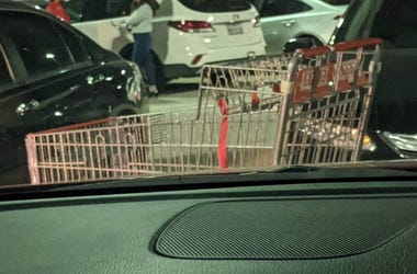 HEB cart in parking lot