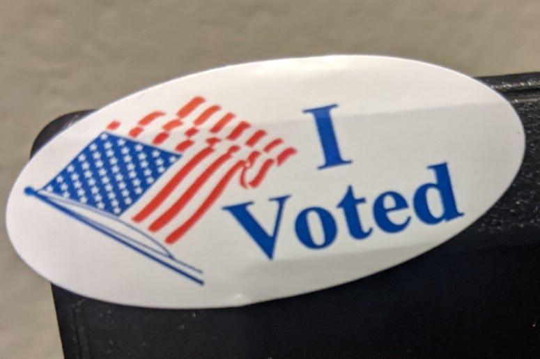 I Voted sticker HR photo