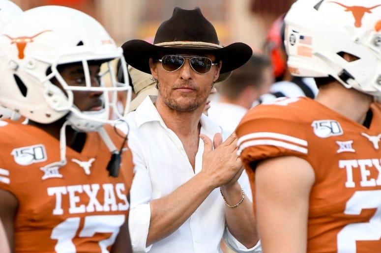 Matthew McConaughey  OSU at TX Scott Wachter USA TODAY Sports