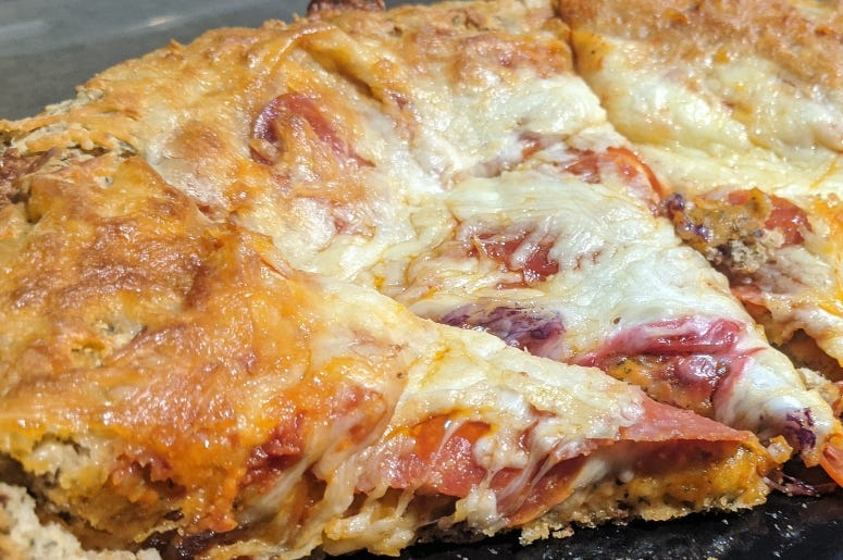 Pizza crust hack shot
