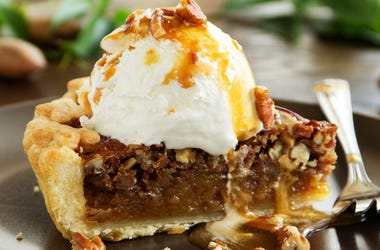 Pecan Pie piece with whip Getty images