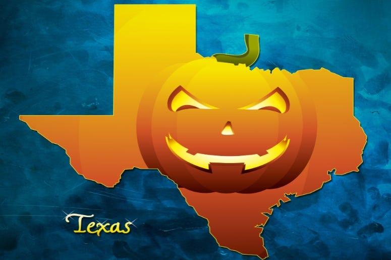 Texas Pumpkin Map GEtty Image