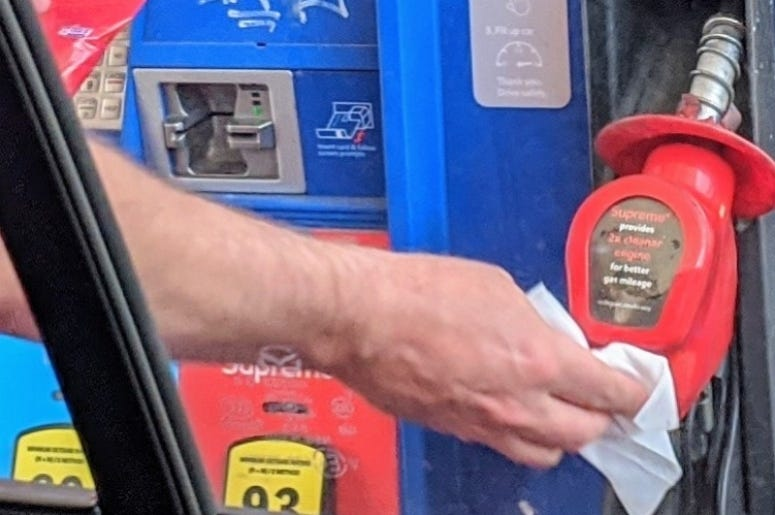 Wiping the Gas Pump