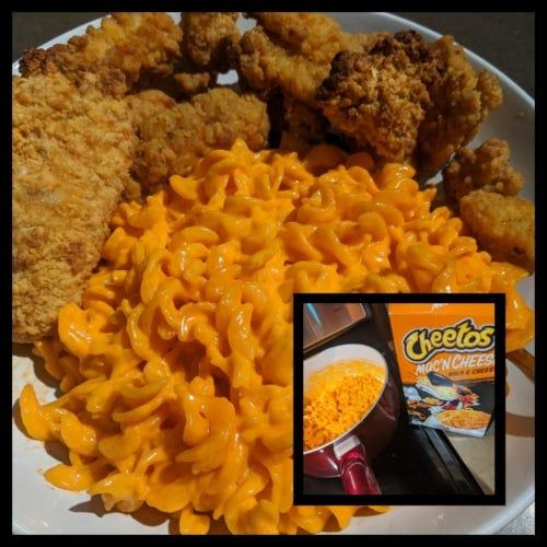 Cheetos Mac n Cheese and Chicken