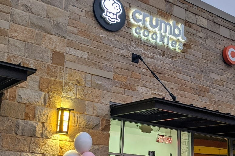 Crumbl Cookie Sunset Valley Storefront