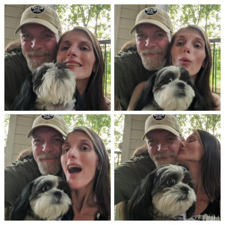 Rudy Roo, honey Ted and Heather Family Selfies 6/12/20