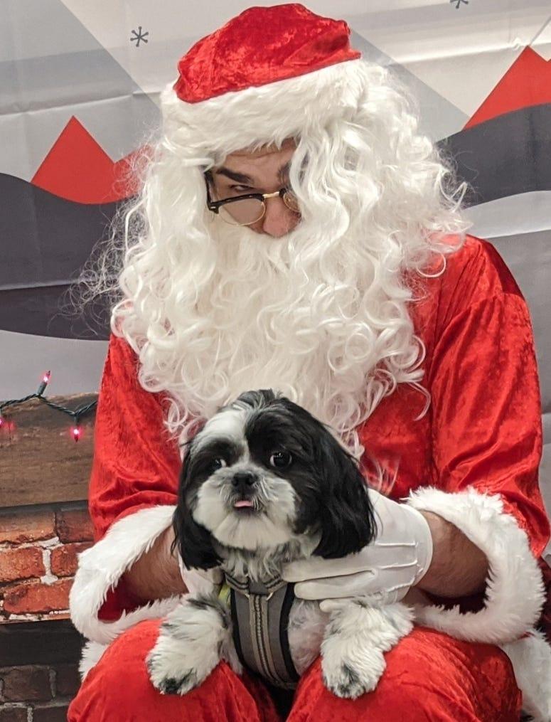 Rudy's 1st Santa Photo