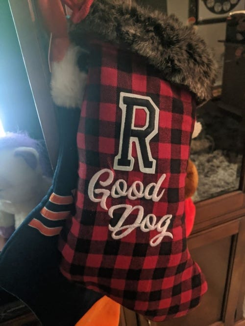 Rudys Good Boy Stocking