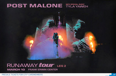 Post Malone Frank Erwin Center