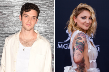 """Lauv attends FOX's """"Teen Choice 2018"""" at The Forum on August 12, 2018 in Los Angeles, California. / Julia Michaels walking on the red carpet at the 2018 Billboard Music Awards held at The MGM Grand Garden Arena on May 20, 2018 in Las Vegas, NV."""