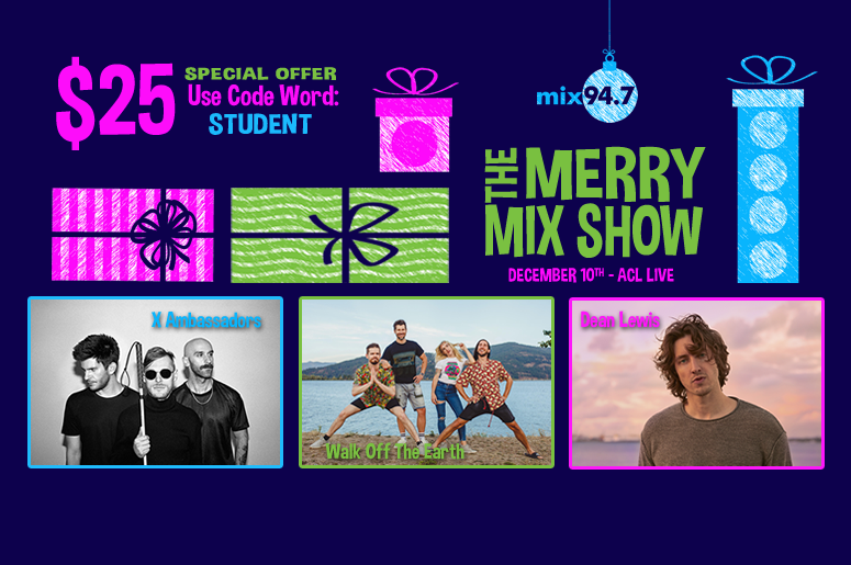 Merry Mix Show $25 Special Offer - Mix 94.7