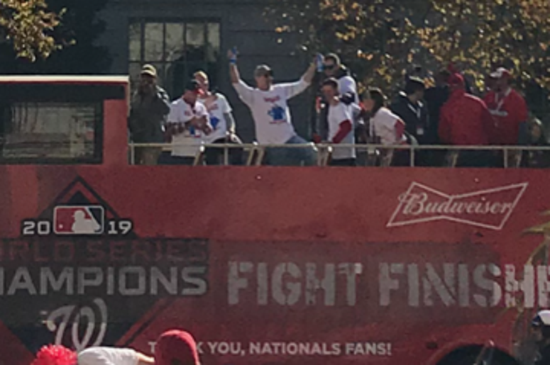Washington Nationals Bud light guy