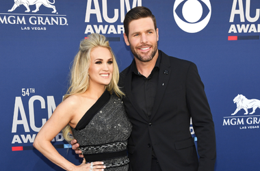 Carrie Underwood and Mike Fisher attend the 54th Academy Of Country Music Awards at MGM Grand Garden Arena on April 07, 2019 in Las Vegas, Nevada