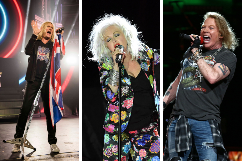 Def Leppard, Cyndi Lauper, Guns N' Roses