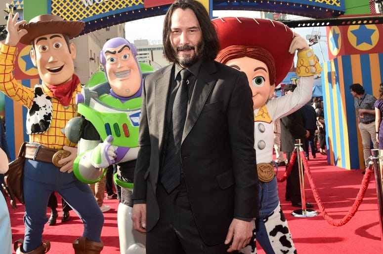 Keanu Reeves attends the world premiere of Disney and Pixar's TOY STORY 4