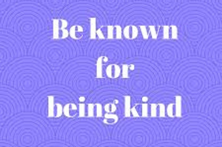 It Pays To Be Kind