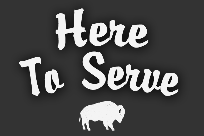 Here to serve graphic