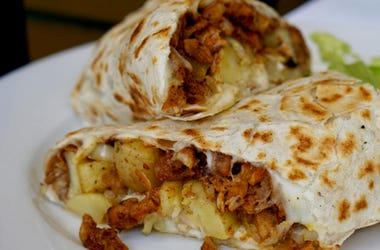 pineapple in a burrito