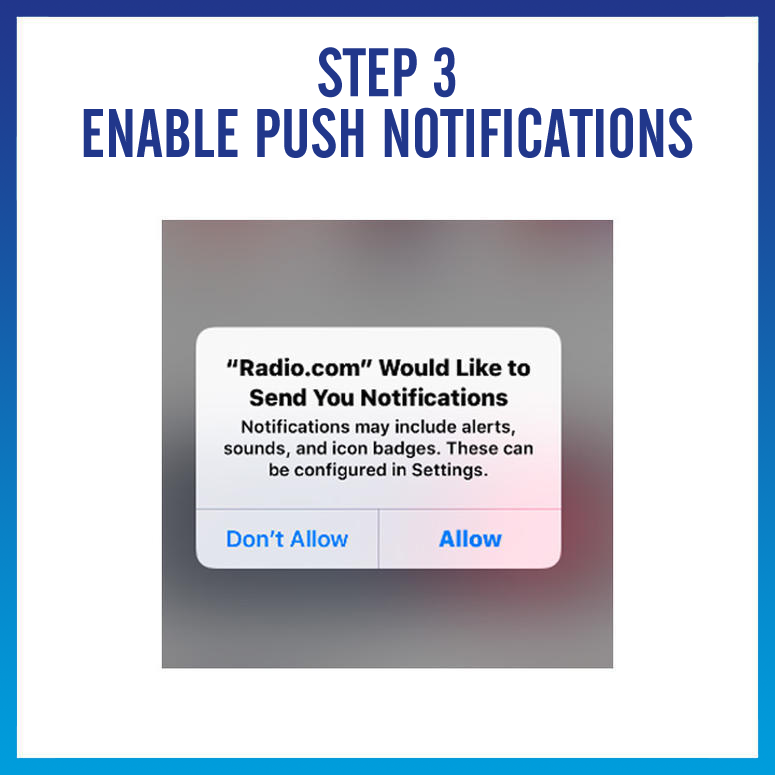 enable push notifications