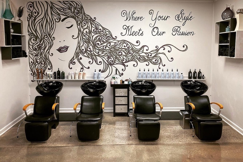 hair salon fringe