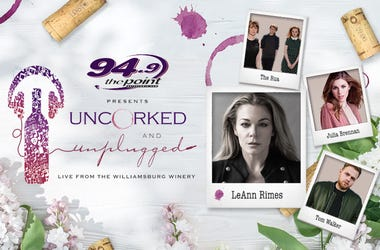 94.9 The Point Presents Uncorked and Unplugged - Live at the Williamsburg Winery