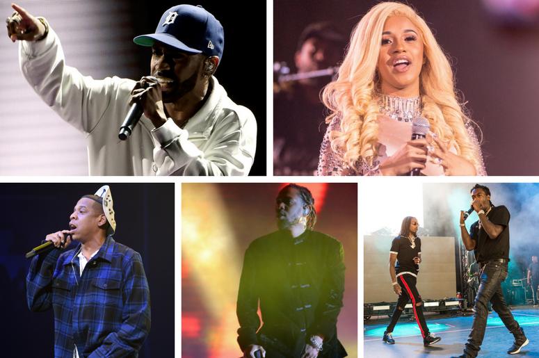 Big Sean, Cardi B, JAY-Z, Kendrick Lamar, Migos