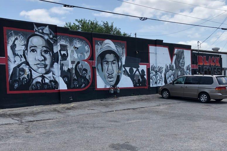 BLM Mural in Wichita, Kansas