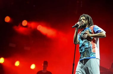 J. Cole headlines the main stage on Day 1 of Wireless Festival 2018 at Finsbury Park on July 6, 2018 in London, England