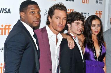 "Jonathan Majors, Matthew McConaughey, Richie Merritt, Bel Powley. ""White Boy Rick"" Premiere - 2018 Toronto International Film Festival at the Ryerson Theatre."