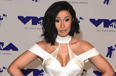 Cardi B at the 2017 'MTV Video Music Awards' at The Forum on August 27, 2017 in Los Angeles, California.