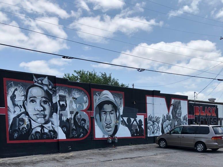 BLM Mural In Wichita