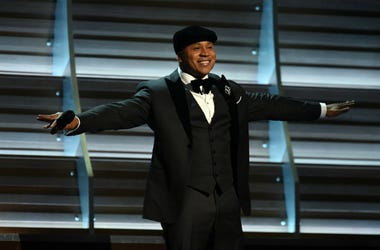 LL Cool J hosts the 58th Grammy Awards at the Staples Center.