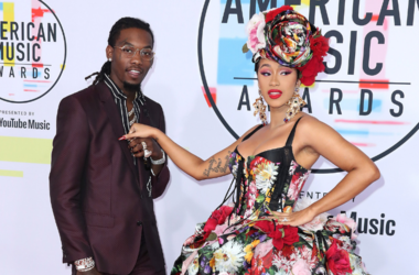 Cardi B and Offset at the 2018 American Music Awards