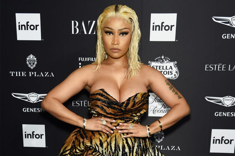 NEW YORK, NY - SEPTEMBER 07: Nicki Minaj attends as Harper's BAZAAR Celebrates 'ICONS By Carine Roitfeld' at the Plaza Hotel on September 7, 2018 in New York City. (Photo by Dimitrios Kambouris/Getty Images for Harper's Bazaar)