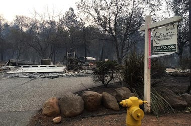 Foster Drive in Paradise, California (Photo credit: Holly Quan/KCBS Radio)